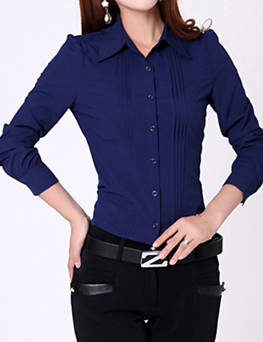 Women's Formal Casual All Seasons Shirt