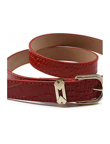 Women's Dress Belt Alloy Skinny Belt - Solid Colored Shiny Metallic Fashion