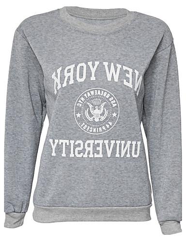 Damer Sport Simpel Gade Sweatshirt Bogstaver Rund hals Polyester Mikroelastisk Langærmet