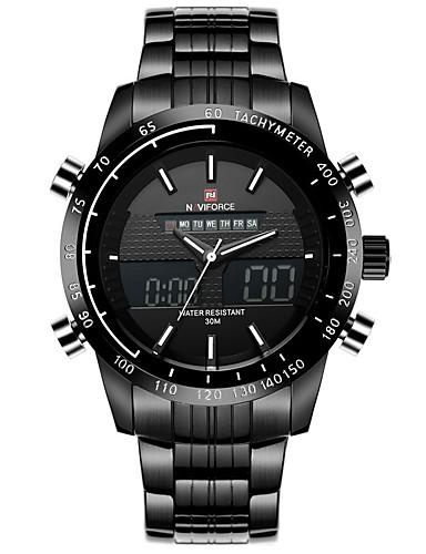 Heren Modieus horloge Digitaal / Legering Band Vrijetijdsschoenen Zwart Wit Zilver Oranje Rood
