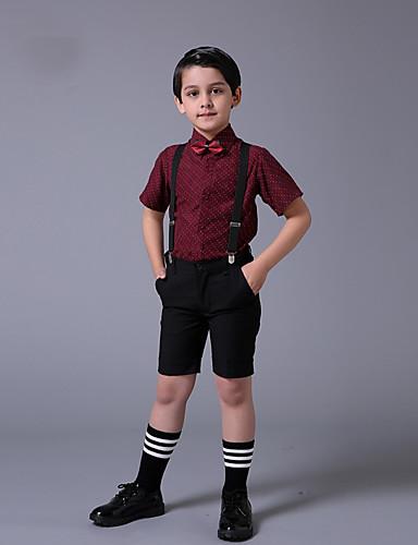 Algodão Terno de Pajem - 3 Peças Inclui Camisa / Calças / Laço