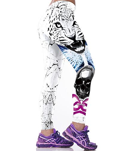 Mujer Deportivo Legging - Animal Media cintura