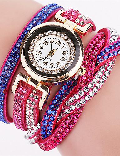 Xu™ Mulheres Bracele Relógio Venda imperdível PU Banda Vintage / Casual / Fashion Branco / Azul / Vermelho