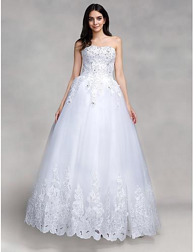 Balo Abiyesi Kalp Yaka Yere Kadar Tül Payet Aplik ile Düğün elbisesi tarafından QQC Bridal
