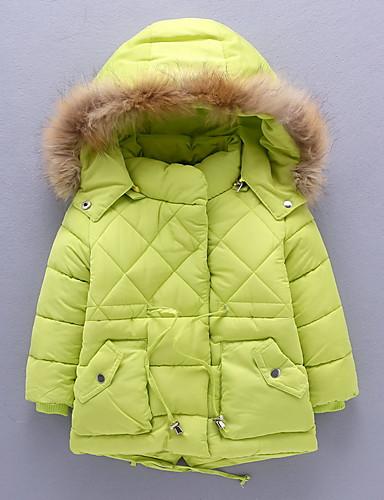 Pike Fritid/hverdag Dun- og bomullsfôret Ensfarget Polyester Vinter / Høst Langermet
