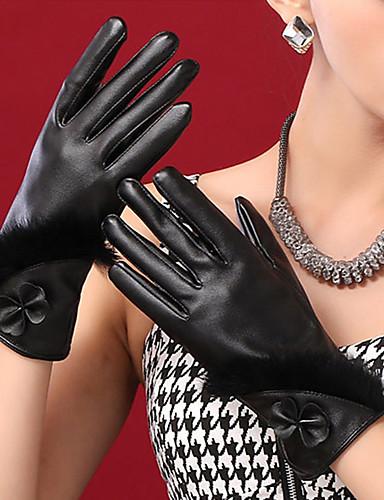 الأصابع قفازات طول المعصم PU, جميل حفلة عمل للمرأة