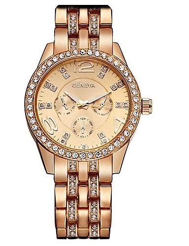 0a6414c3590 Geneva Mulheres senhoras Relógio de Pulso Quartzo Prata   Dourada   Ouro  Rose Legal Analógico Amuleto