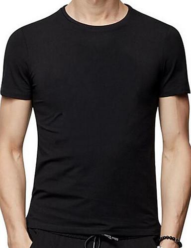 Bomull Rund hals T-skjorte - Geometrisk Herre