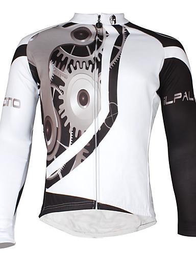 cheap Cycling Clothing-ILPALADINO Men's Long Sleeve Cycling Jersey Bike Jersey Waterproof Windproof Fleece Lining Sports Polyester Elastane Mountain Bike MTB Road Bike Cycling Clothing Apparel / Breathable / Stretchy