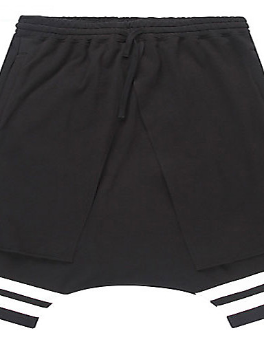 Trenduality® גברים שורטים מכנסיים לדעוך שחור-55008