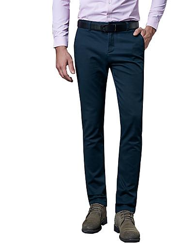 Pluskoko Suora / Ohut Chinos housut / Business Miehet Housut,Vintage / Yksinkertainen / Katutyyli Rento/arki / Työ YhtenäinenMatala