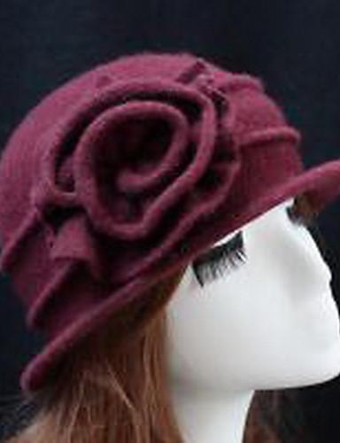 Cloche قبعة نسائية لون سادة نسائي صوف / الخريف / الشتاء