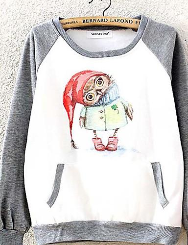女性用 キュート スウェットシャツ - プリント