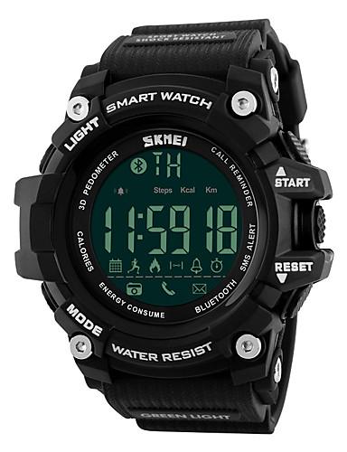 SKMEI Hombre Reloj Deportivo Monitor de Pulso Cardiaco / Despertador / Calendario PU Banda Lujo Negro / Cronógrafo / Resistente al Agua / Control remoto / LED / Podómetros
