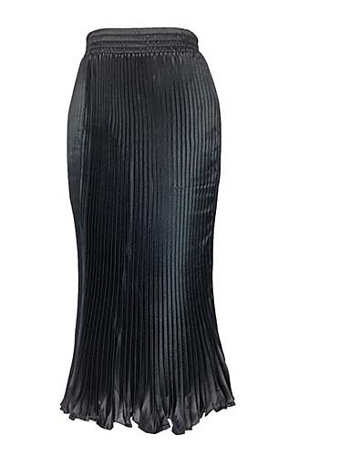 女性用 ブランコ スカート - ソリッド, プリーツ