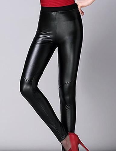 Naiset Seksikäs Mikroelastinen Chinos housut Housut,Hoikka Keski vyötäröYhtenäinen