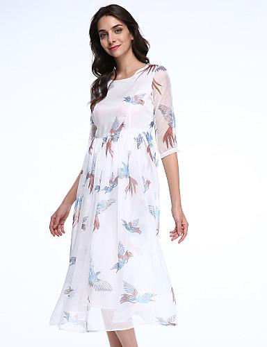 maxlindy Frauen Jahrgang Ausgehen / Party / anspruchsvolle Chiffon-Kleid