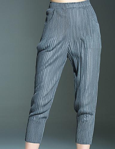 Damen Einfach Mittlere Hüfthöhe Unelastisch Chinos Skinny Hose Solide