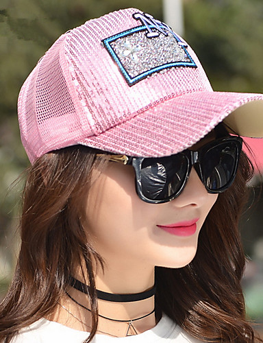 Damen Niedlich Party Freizeit Frühling Sommer Baumwolle Baseball Kappe Sonnenhut,Einfarbig