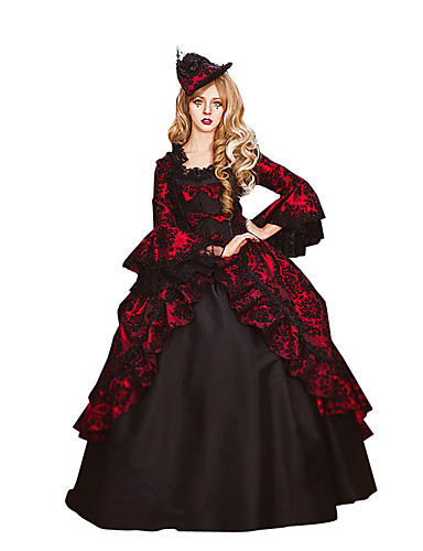 rococo victorien costume femme robes costume de soir e bal masqu rouge vintage cosplay. Black Bedroom Furniture Sets. Home Design Ideas