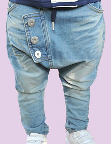 Erkek en Yaz / Bahar / Sonbahar Solid Kot Erkek en Pantolon