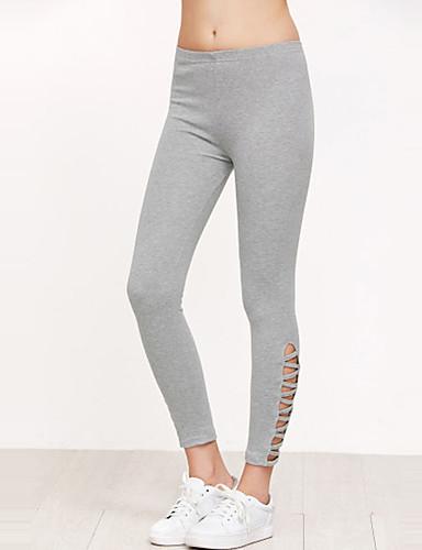Damen Einfach Street Schick Mittlere Hüfthöhe Mikro-elastisch Chinos Skinny Hose einfarbig
