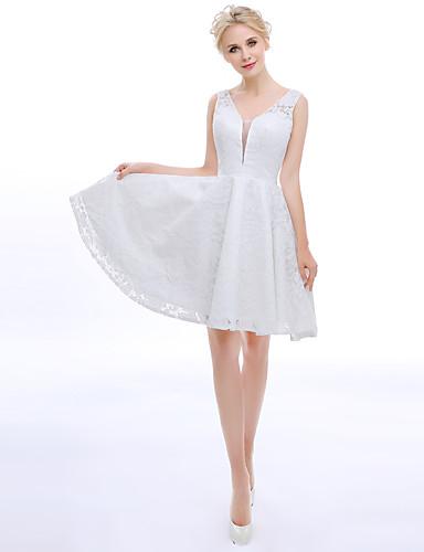 A-Linie Stehkragen Knie-Länge Spitze Cocktailparty Kleid mit Spitze durch TS Couture®