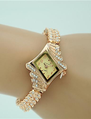 Mujer damas Reloj Pulsera Cuarzo La imitación de diamante Aleación Banda Analógico Encanto Moda Elegante Dorado - Dorado Un año Vida de la Batería / Tianqiu 377