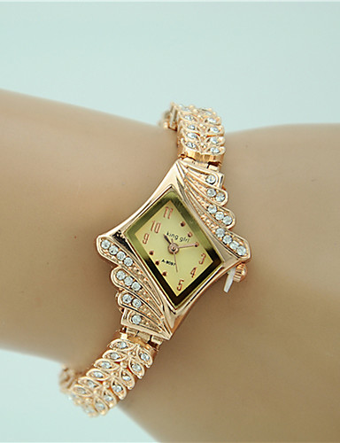 cheap Bracelet Watches-Women's Bracelet Watch Quartz Gold Imitation Diamond Analog Ladies Charm Fashion Elegant Dress Watch - Gold One Year Battery Life / Tianqiu 377