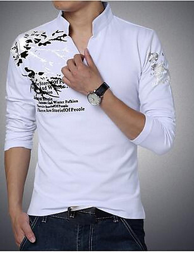 T-skjorte - Ensfarget, Trykt mønster Bohem Herre