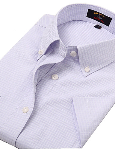 U&Shark Casual&Dress Men's Fine Cotton Wrinkle-Resistant Short Sleeve Shirt  /DYF-019