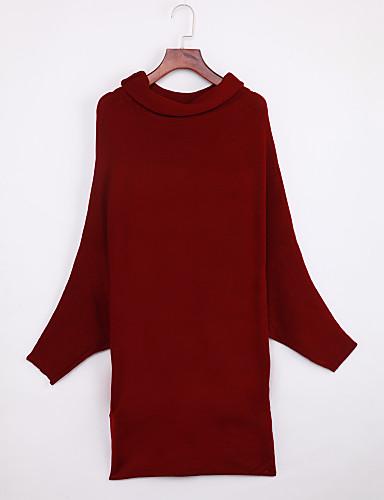 Damen Langarm Pullover-Solide Rollkragen