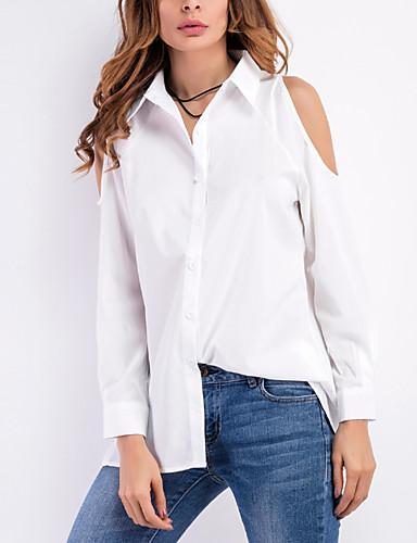 chemise femme couleur pleine plage sortie col de chemise de 5562310 2018. Black Bedroom Furniture Sets. Home Design Ideas