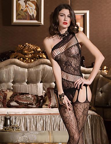 Damen Übergrössen Super Sexy Teddy Nachtwäsche - Gitter, Solide