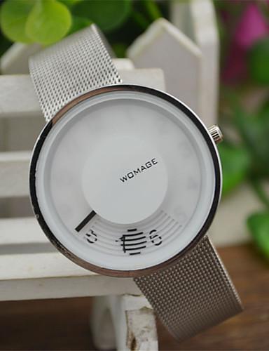 Mujer Reloj de Pulsera Reloj Casual / / Aleación Banda Casual / Moda / Reloj creativo único Blanco