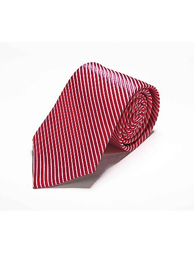 Cravate Travail / Décontracté Polyester Rayé Toutes les Saisons