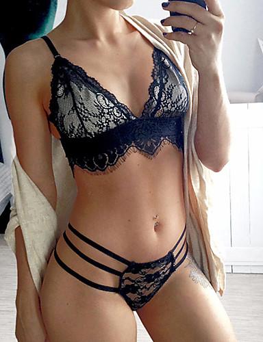 Mujer sexy lencer a de encaje ropa de dormir un color - Ropa interior de mujer de encaje ...