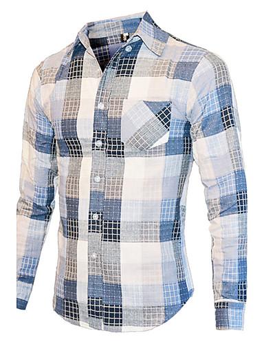 53d28aceb0b Men s Cotton Shirt - Check Print   Long Sleeve 5611952 2019 –  20.56
