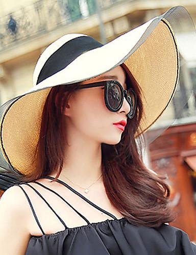 قبعة مرنة قبعة الماصة قبعة شمسية سادة أناقة الشارع للمرأة
