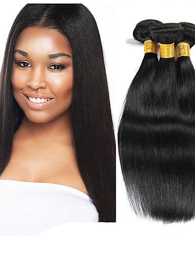 povoljno African American perika-3 paketa Indijska kosa Ravan kroj 10A Virgin kosa Ljudske kose plete Isprepliće ljudske kose Proširenja ljudske kose