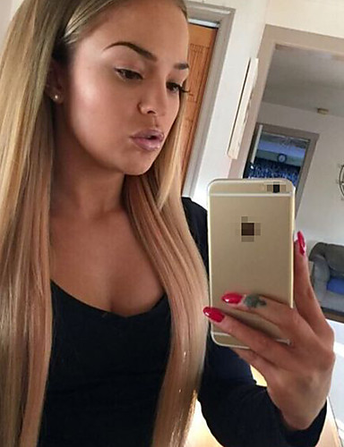 povoljno Perike s ljudskom kosom-Remy kosa Perika s prednjom čipkom bez ljepila Lace Front Perika stil Brazilska kosa Ravan kroj Silky Straight Perika 130% Gustoća kose s dječjom kosom Prirodna linija za kosu Afro-američka perika