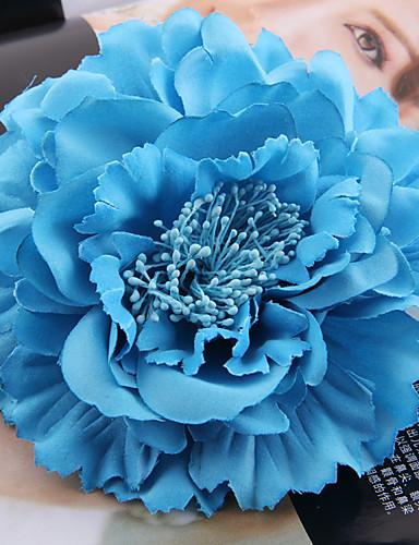 billige Hatte & Imponeringer-Tøy / Satin fascinators / blomster / Hodeplagg med Blomster 1pc Bryllup / Spesiell Leilighet / utendørs Hodeplagg