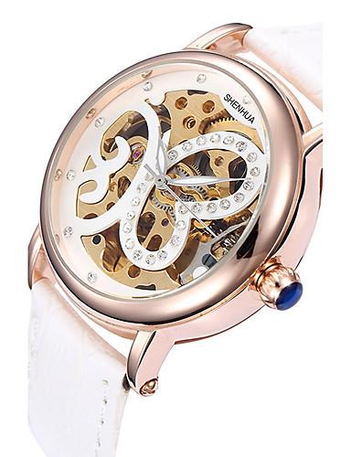 Hombre Reloj Deportivo / Reloj de Moda / Reloj de Vestir Cuero Auténtico Banda Encanto / Casual Múltiples Colores / Cuerda Automática