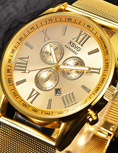 Homens Quartzo Relógio de Pulso / Relógio Militar / Relógio Esportivo Calendário / Mostrador Grande / Legal Lega Banda Amuleto / Luxo /