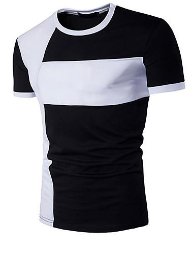 Hombre Activo Deportes Retazos - Algodón Camiseta 37beb4648bc9b