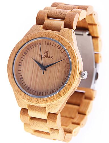 للمرأة ساعة المعصم ياباني كوارتز خشبي الخشب فرقة مماثل سحر كاجوال خشب الأصفر