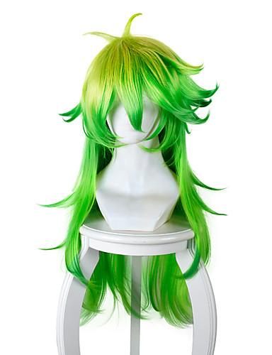 billige Anime cosplay-Cosplay Parykker Cosplay Cosplay Grønn Anime Cosplay-parykker 32 tommers Varmeresistent Fiber Herre Dame Halloween-parykker