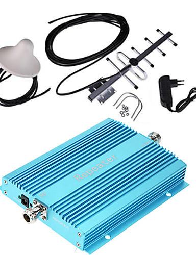 billige Sikkerhet og overvåkning-telefonsignalforsterkerforsterker 900mhz signalrepeaterforsterker for hjemme og bygning gsm mobil signalforsterker + antenne + trådløs innendørs antenne