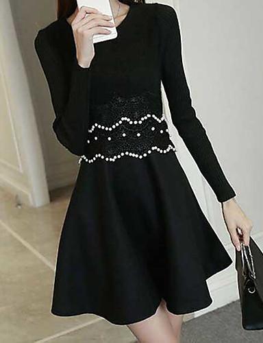 370998af7006 Hitz γυναίκες κορεατική έκδοση του γλυκού φθάνοντας μακριά μανίκια δεμένη φόρεμα  φθινόπωρο και το χειμώνα παράγραφο