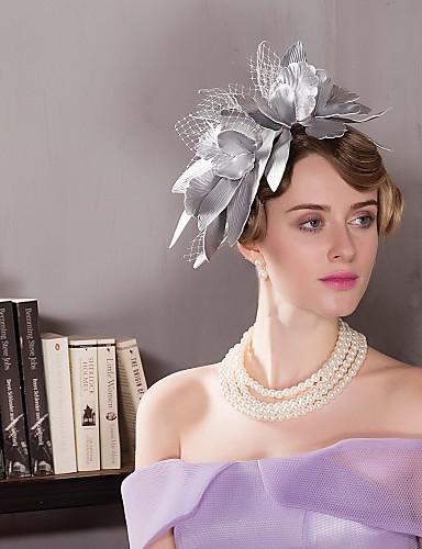 billige Hatte & Imponeringer-Leather Kentucky Derby Hat / fascinators / Hatter med 1 Bryllup / Spesiell Leilighet / Avslappet Hodeplagg